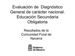 Evaluación de Diagnóstico General. Primaria