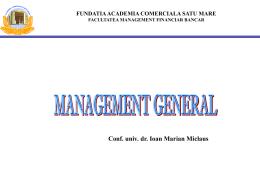 MANAGEMENT GEN - Academia Comerciala