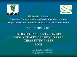 Ministerio de Salud Dirección General de Provisión de