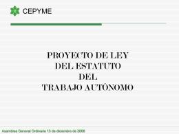 Presentación de CEPYME en su Asamblea General Ordinaria