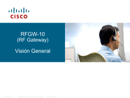 Qué es RFGW-10? - Cisco Support Community