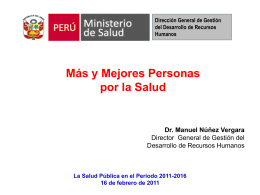 Peruvian Ministry of Health General Directorate for