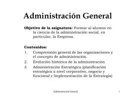Administración General - Universidad de Concepción
