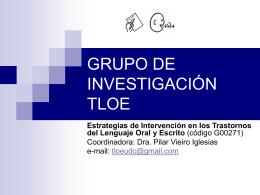 Presentación del grupo de investigación TLOE