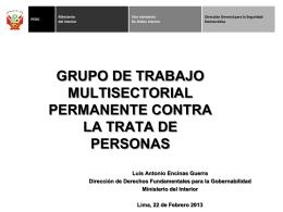 Grupo de Trabajo Multisectorial Permanente contra la Trata de