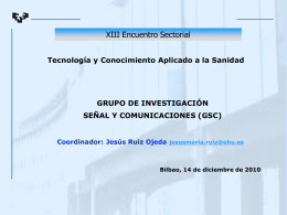 Grupo de investigación de Señal y Comunicaciones (GSC)