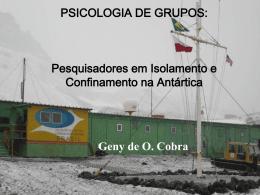 PSICOLOGIA DE GRUPOS: Pesquisadores em Isolamento