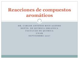 Reacciones de compuestos aromáticos