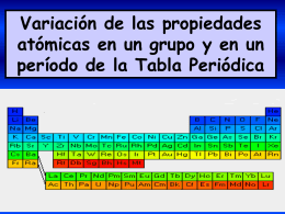 Variación de las propiedades atómicas en un grupo y