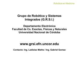 Grupo de Robótica y Sistemas Integrados (GRSI)
