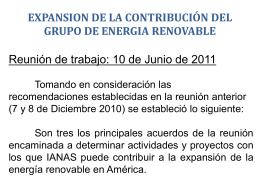 expansion de la contribución del grupo de energia