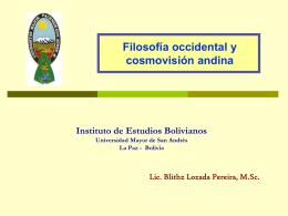 La cosmovisión andina - bienvenidos a ciencias y letras