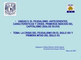 Crisis del Feudalismo - Portal Académico del CCH