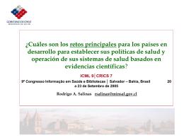 Diapositiva 1 - 9º Congresso Mundial de Informação em Saúde e