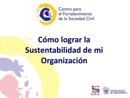 Sustentabilidad. - Junta de Asistencia Privada Sinaloa