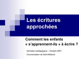 Diaporama de la conférence de Jacques David