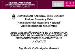 David Aguilar - Consejo Nacional de Educación