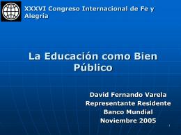 David Varela - Federación Internacional de Fe y Alegría