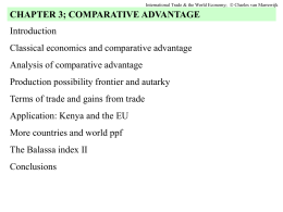 chapter 3 Comparative advantage