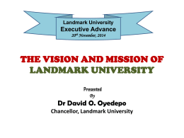 Unveiling the Vision/Mission /Philosophy/Goals and Objectives of