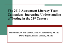 assessment literacy in the public schools of North Carolina
