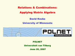 POLNET Relations & Combinations