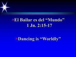 Bailar es del Mundo