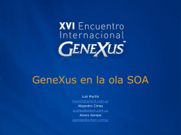 GeneXus en la ola SOA