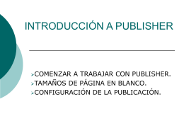 INTRODUCCIÓN A PUBLISHER