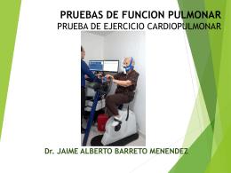 Prueba de ejercicio cardiopulmonar integrada