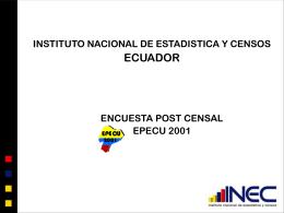 encuesta postcensal 2001 resultados obtenidos