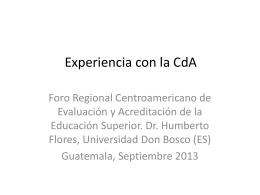Experiencia con la CdA (1)