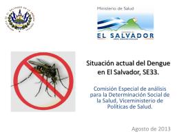 Situación de Dengue en El Salvador_2013