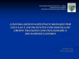 Linfoma Hepato-Esplênico mediado por Células T, em pacientes