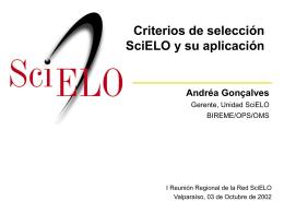 Criterios SciELO