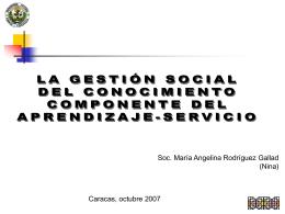 Qué es la gestión social del conocimiento?