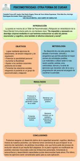 psicomotricidad: otra forma de cuidar
