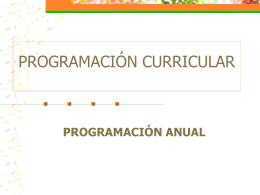 PROGRAMACIÓN CURRICULAR - Página web de Valia Maritza