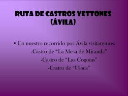 RUTA DE CASTROS VETTONES (ÁVILA)