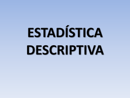 estadística descriptiva medidas de resumen