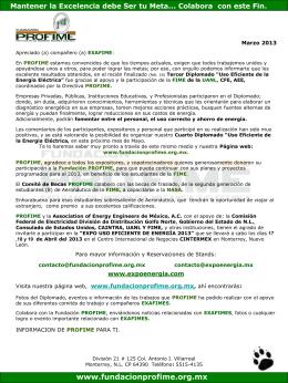 Marzo_2013 - Fundacion Pro-FIME