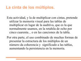 La cinta de los múltiplos. - matematicas Ricardo Vazquez