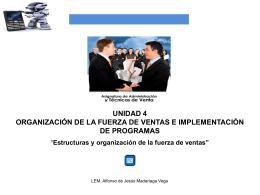 Estructuras y organización de la fuerza de ventas