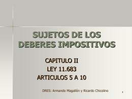 SUJETOS DE LOS DEBERES IMPOSITIVOS