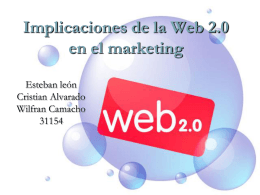 Implicaciones de la Web 2.0 en el marketing