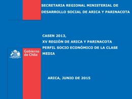 casen 2013, perfil clase media xv región