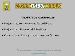 Reunión EFC - euskal futbol campus