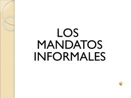 Como se forma el mandato informal