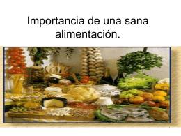 Presentación alimentación saludable