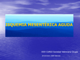 Isquemia mesentérica aguda - Sociedad Valenciana de Cirugía
